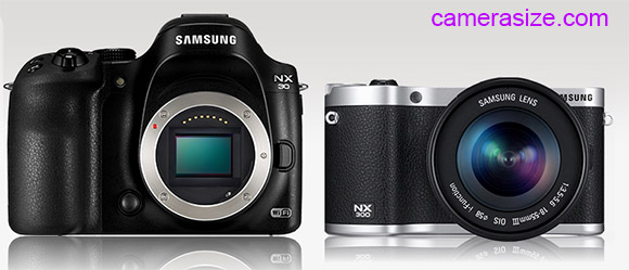 Samsung NX30 and NX300 size comparison