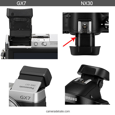 Tilting EVF NX30 vs GX7