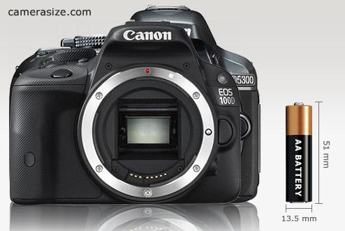 Canon Rebel SL1 / EOS 100D vs Nikon D5300 size comparison