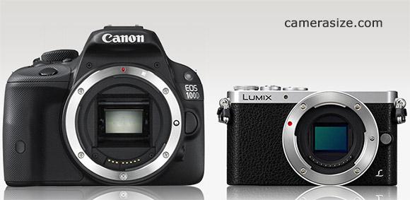 Panasonic Lumix GM1 vs Canon Rebel SL1 size comparison