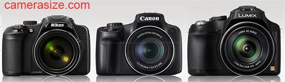 P600 vs SX50 HS vs FZ70 camera size comparison