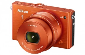 Nikon 1 J4 mirrorless camera, orange version