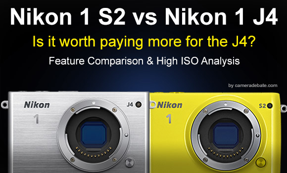 Nikon 1 S2 and J4 side by side