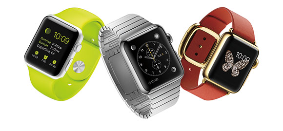 Apple Watch (42mm), Apple Watch Sport (42mm) and Apple Watch Edition (38mm)