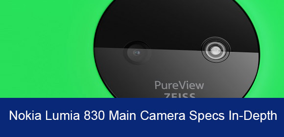 Nokia Lumia 830 rear facing camera