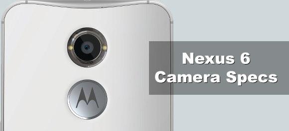 Nexus 6 rear facing camera