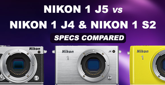 Nikon 1 J5, J4 and S2 side by side