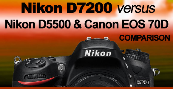D7200 camera in sunset