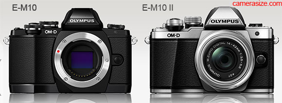 Olympus OM-D E-M10 vs E-M10 side by side size comparison