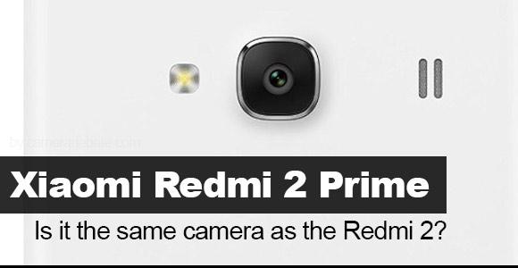 Xiaomi Redmi 2 prime camera