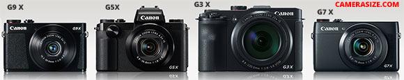 G9 X vs G5 X, G7 X and G3 X cameras side by side