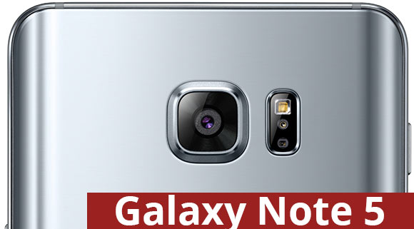 Samsung Galaxy Note 5 rear camera
