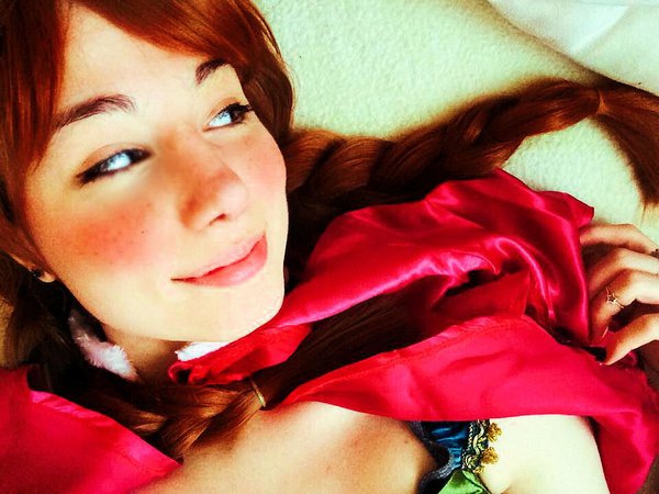 Girl smiling selfie image