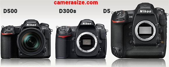 Nikon D500, D300s and D5 side by side