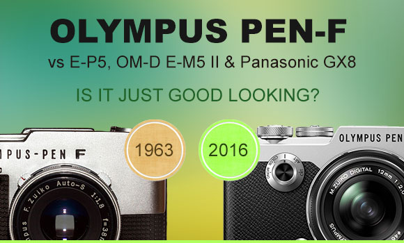 Olympus PEN-F new vs old camera side by side