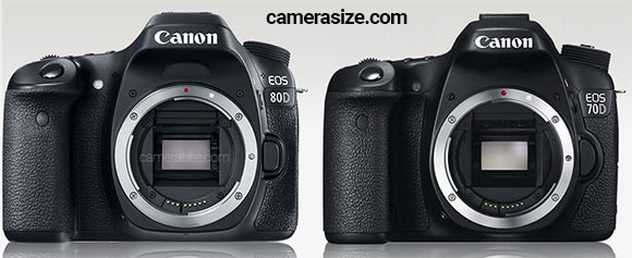 Canon 80D and 70D side by side