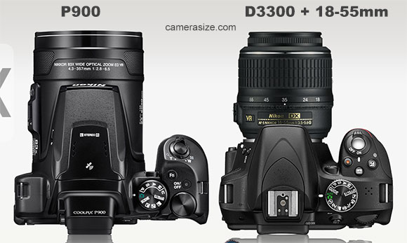 P900 vs D3300 with a 18-55mm lens depth comparison