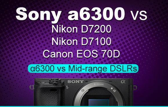 Sony a6300 camera on purple background