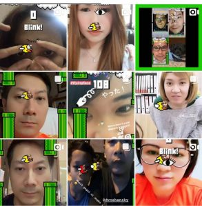 Flying Face gameplay posts on Instagram