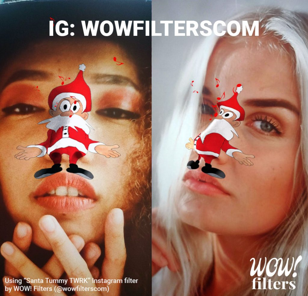 Santa nose twerk Instagram effect